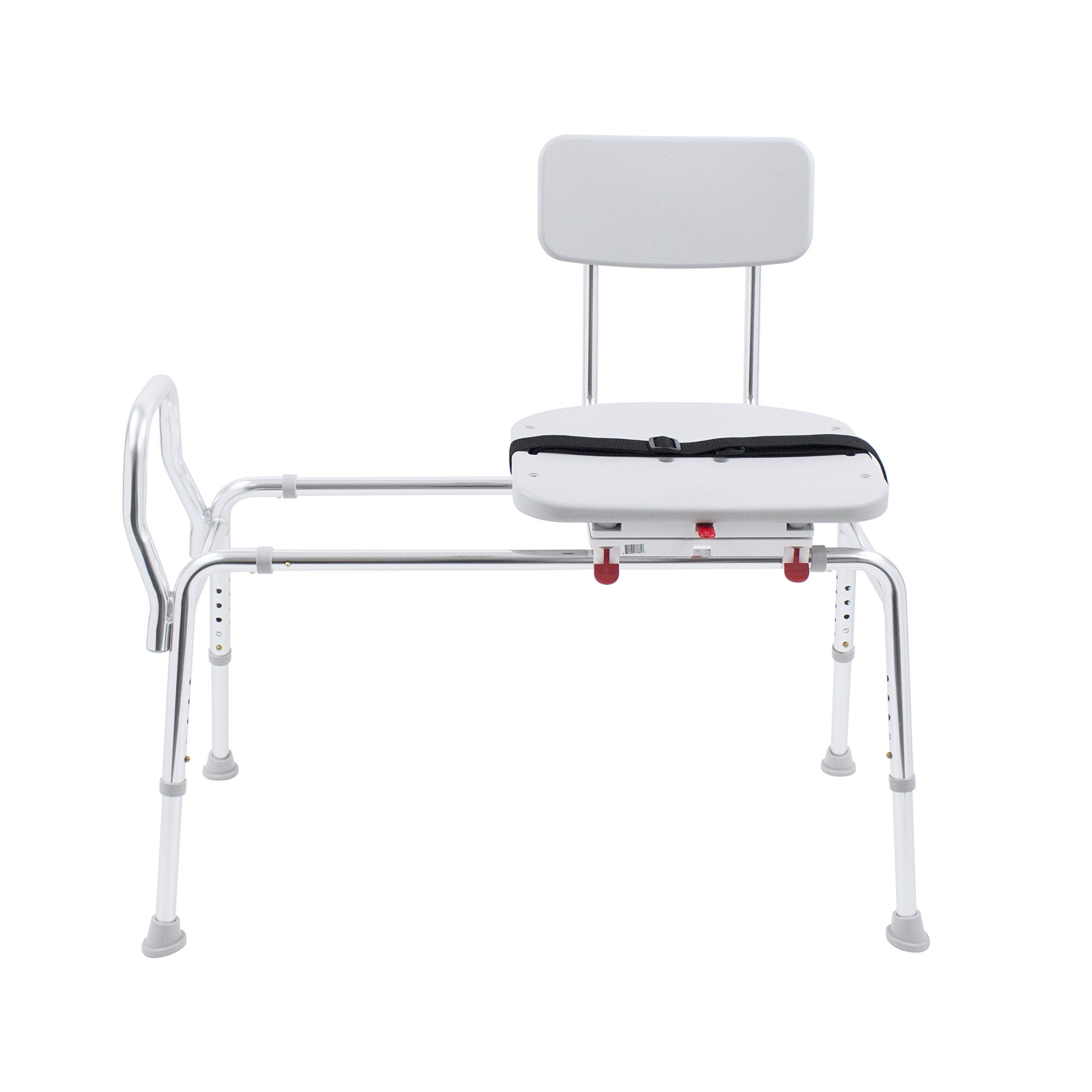 Eagle Health Supplies Swivel Sliding Shower Transfer Bench with Adjustable Height, No Tool Assembly by Eagle Health Supplies (Image #3)