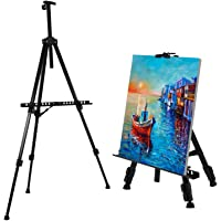 """Easel Amzdeal 21"""" to 63"""" Easel Stand, a1-a4 Floor/Table-Top Canvas Picture Poster Tripod Display, with Carry Bag…"""