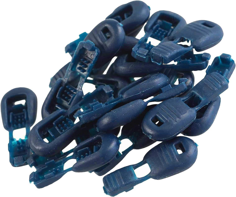 maDDma 20 Kordelenden 15x19mm Kunststoff Endst/ück Kordelendst/ücke Klicksystem Farbwahl Farbe:blau