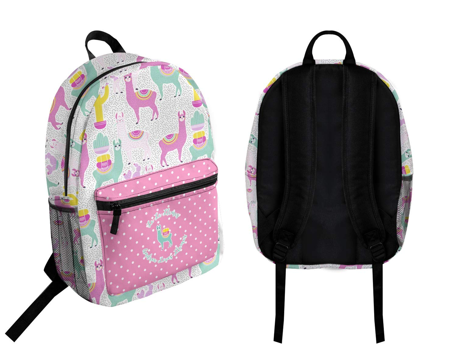 Personalized Llamas Student Backpack