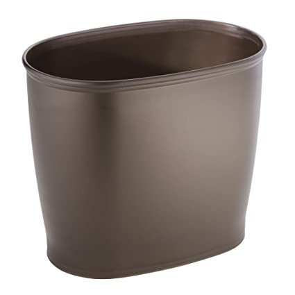 Bronze Bathroom Trash Can. Mdesign Oval Wastebasket Trash Can For Bathroom Kitchen Office Bronze