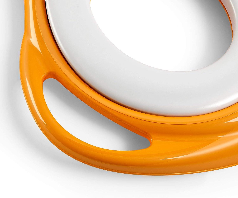 OKBABY Ducka R/éducteur de Toilette pour Enfants avec des Bords Antid/érapants Orange