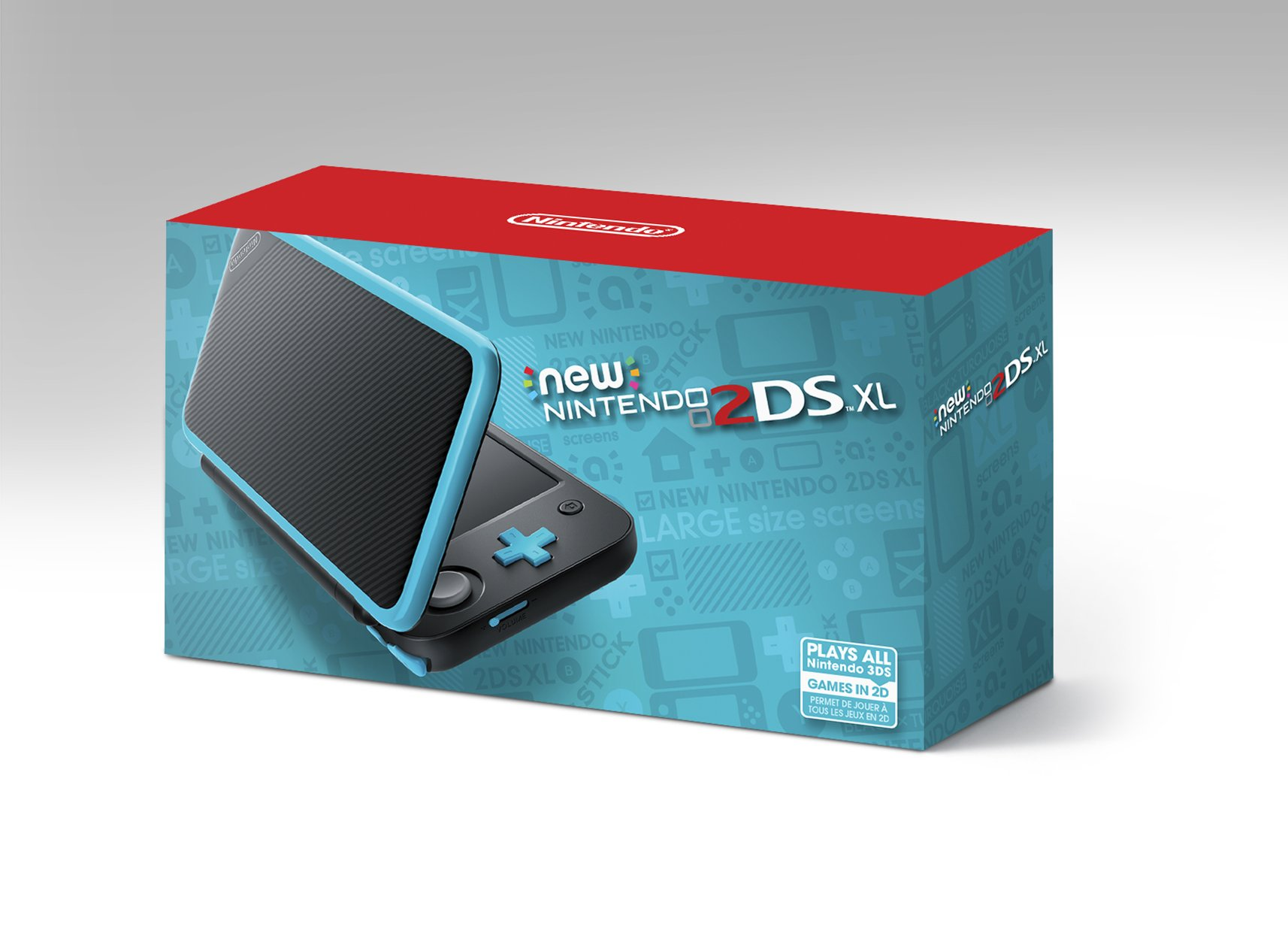 Nintendo New 2DS XL - Black + Turquoise by Nintendo (Image #8)