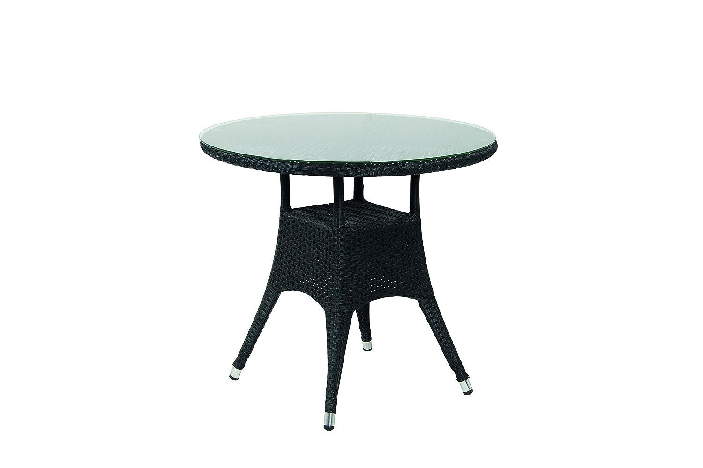 Amazon.de: acamp Tisch salzburg Gartentisch, schwarz, 80 x 80 x 72 ...