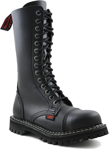 Angry Itch Combat Boots Black Vegan