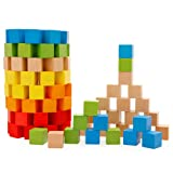 Lewo Wooden Building Blocks Set Children Educational Stacking Toys 100 Pcs