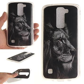 Qiaogle Teléfono Caso - Funda de TPU silicona Carcasa Case Cover para LG K7 / LG Tribute 5 / LG K8 (5.0 Pulgadas): Amazon.es: Electrónica
