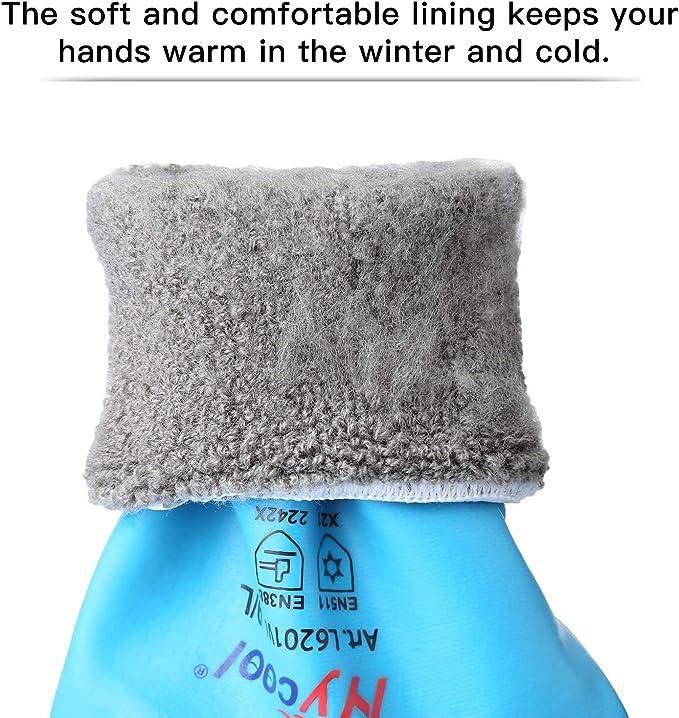 talla 8//M guantes de trabajo de invierno DS Safety t/érmicos guantes de trabajo de doble capa de nailon aislados color azul guantes de invierno Guantes de trabajo de invierno resistentes al agua