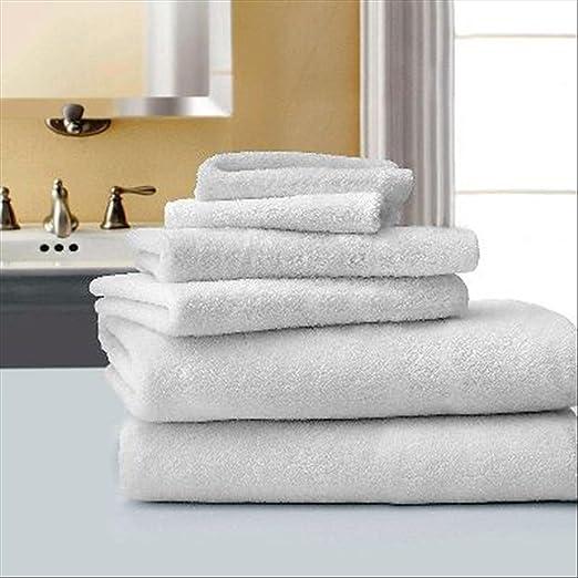 ForenTex - Toalla de baño Blanca (000562), 100% algodón hostelería ...