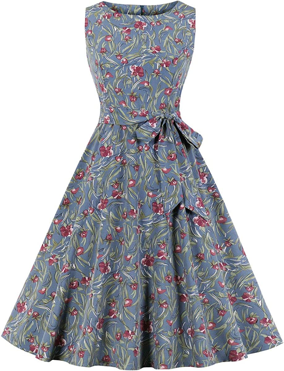 Vintage 50/'s Dress  Floral Cotton Day Dress  Ruffled Front  medium  Wrap Dress
