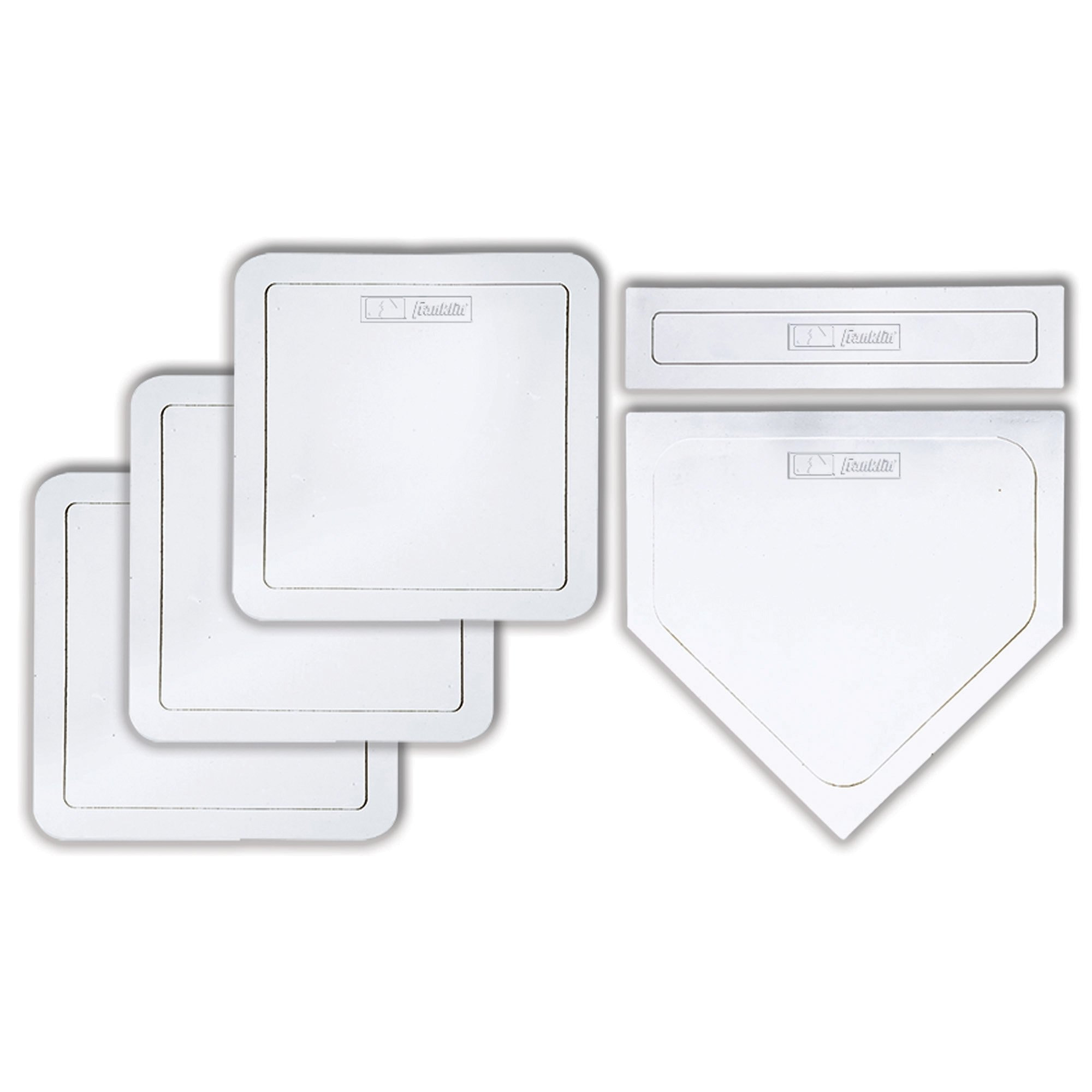 Franklin Sports Thrown Down Baseball Bases with Home Plate and Pitcher's Rubber - Rubber Base Set Perfect for Baseball, Teeball, and Kickball - Five Piece White by Franklin Sports