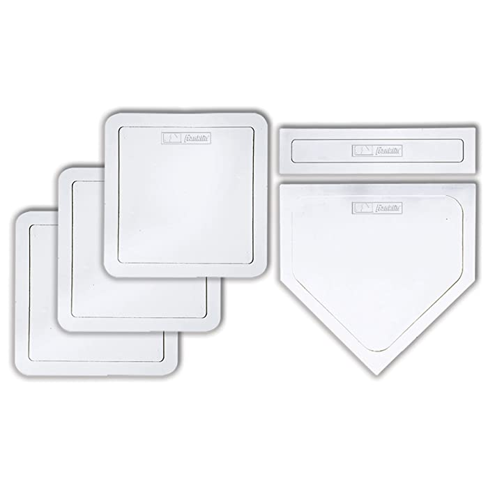Franklin Sports MLB Baseball 5-Piece Deluxe Throw Down Rubber-Tek Base Set – Baseball, Softball or Kickball Bases
