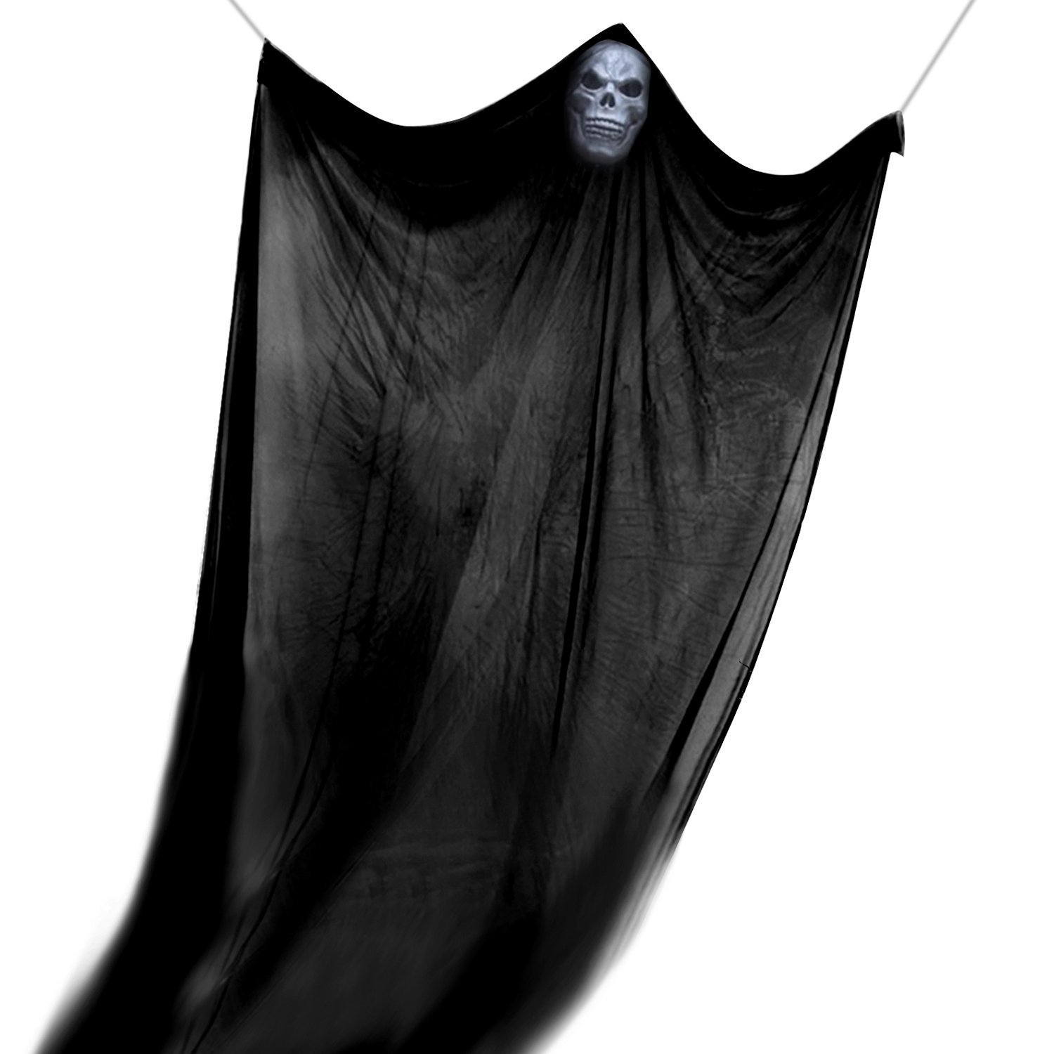 GuLute Halloween Hanging Ghost Prop Scary Decor Halloween Skeleton Ghost Skull Decorations for Outdoor Indoor Bar Party Background Decoration by GuLute