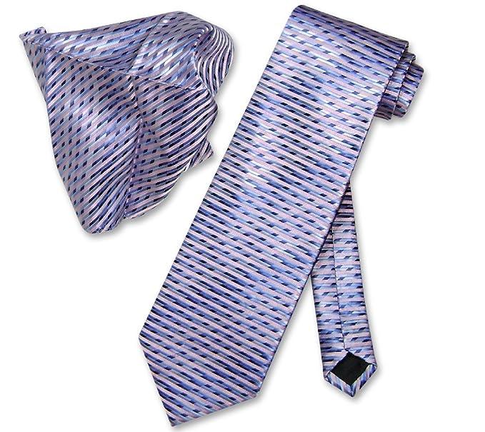 333f84abccf9 Image Unavailable. Image not available for. Color: Antonio Ricci NeckTie  Handkerchief Blue Purple Design Pattern Men's ...