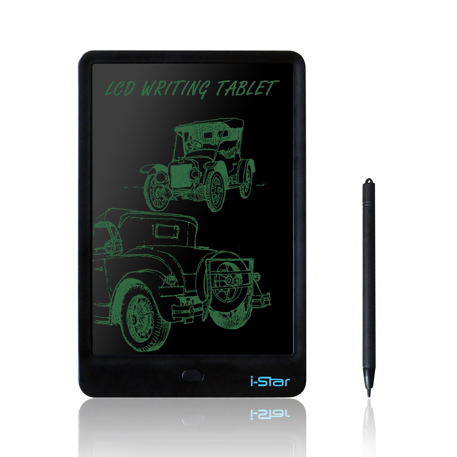 LCD Writing Tablet, i-Star 10 inches Lock Electronic Drawing Painting Board, Paper-Free, Portable Doodle Handwriting Notepad Gift for Kids Adults Designer Office House, Black by I-STAR (Image #1)