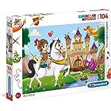 Clementoni 27113 Supercolor Puzzle The Magic Kingdom, 104 Parça
