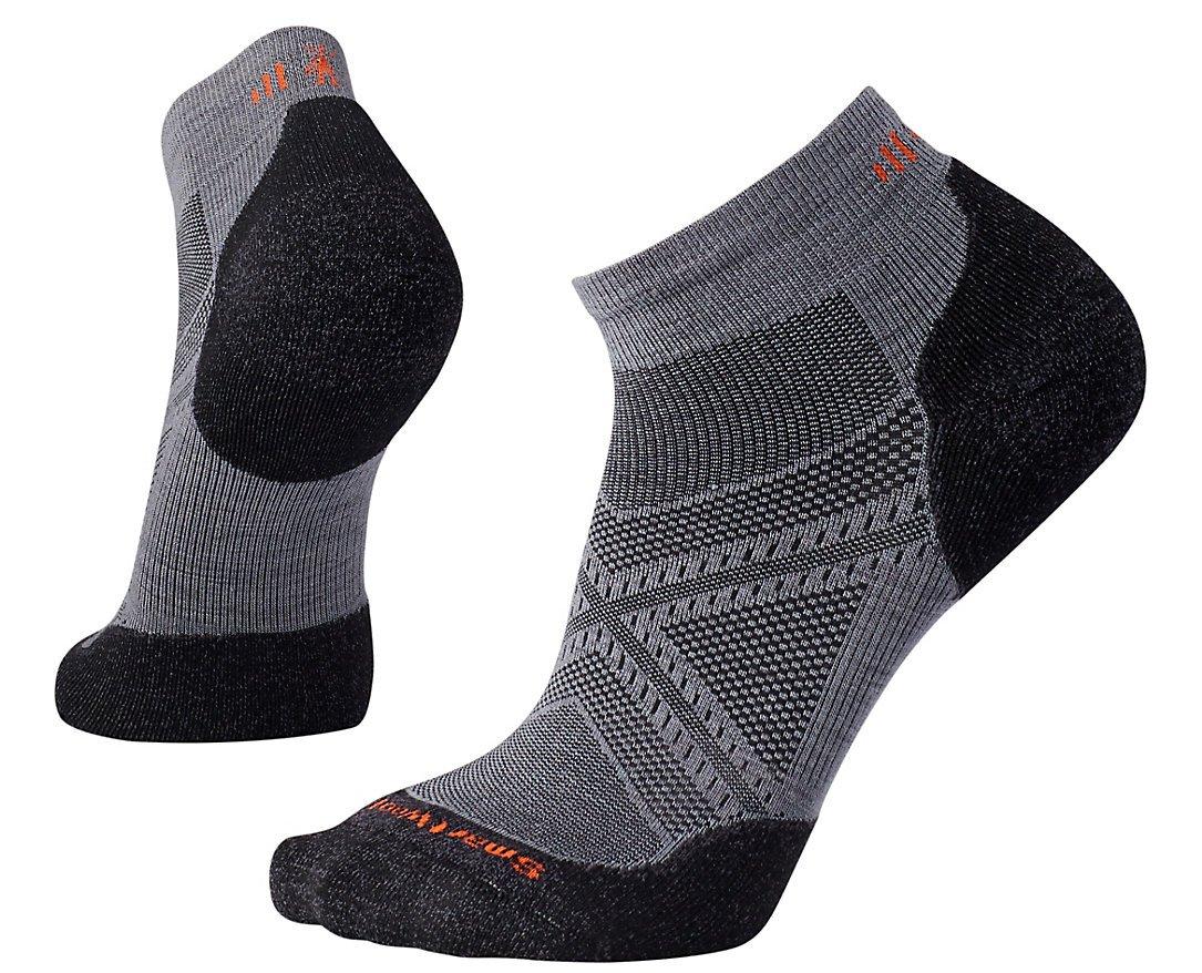 SmartWool Men's PhD Run Light Elite Low Cut Socks (Graphite) Large
