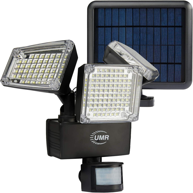 Triple Head 178 LED 1000 Lumens Solar Powered Motion Sensor Security Light MX