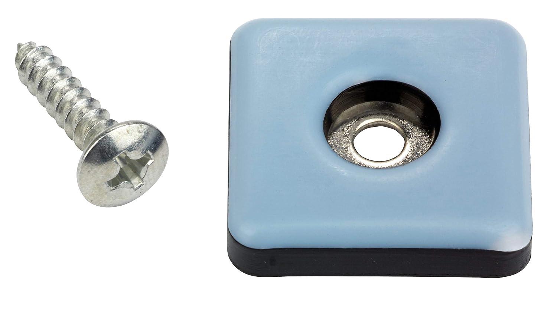 tefl/ón para muebles 4/unidades, con tornillos, 25/x 25/mm, con recubrimiento de PTFE gleiter laflon superg Escalera suelo para sillas CUADRADO