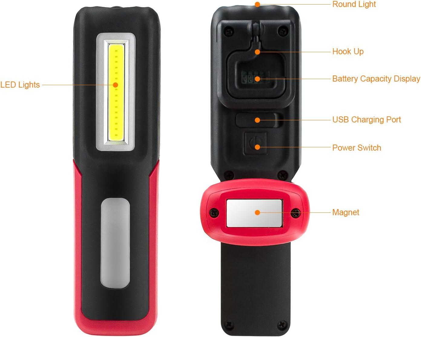 portable magnétique maison pendaison camping voiture 24 LED pratique lampe // torche