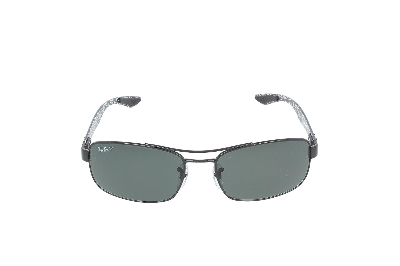 730f7e61ff Amazon.com  Ray-Ban METAL UNISEX SUNGLASS - BLACK Frame CRYSTAL POLAR GREEN  Lenses 62mm Polarized  Ray-Ban  Clothing