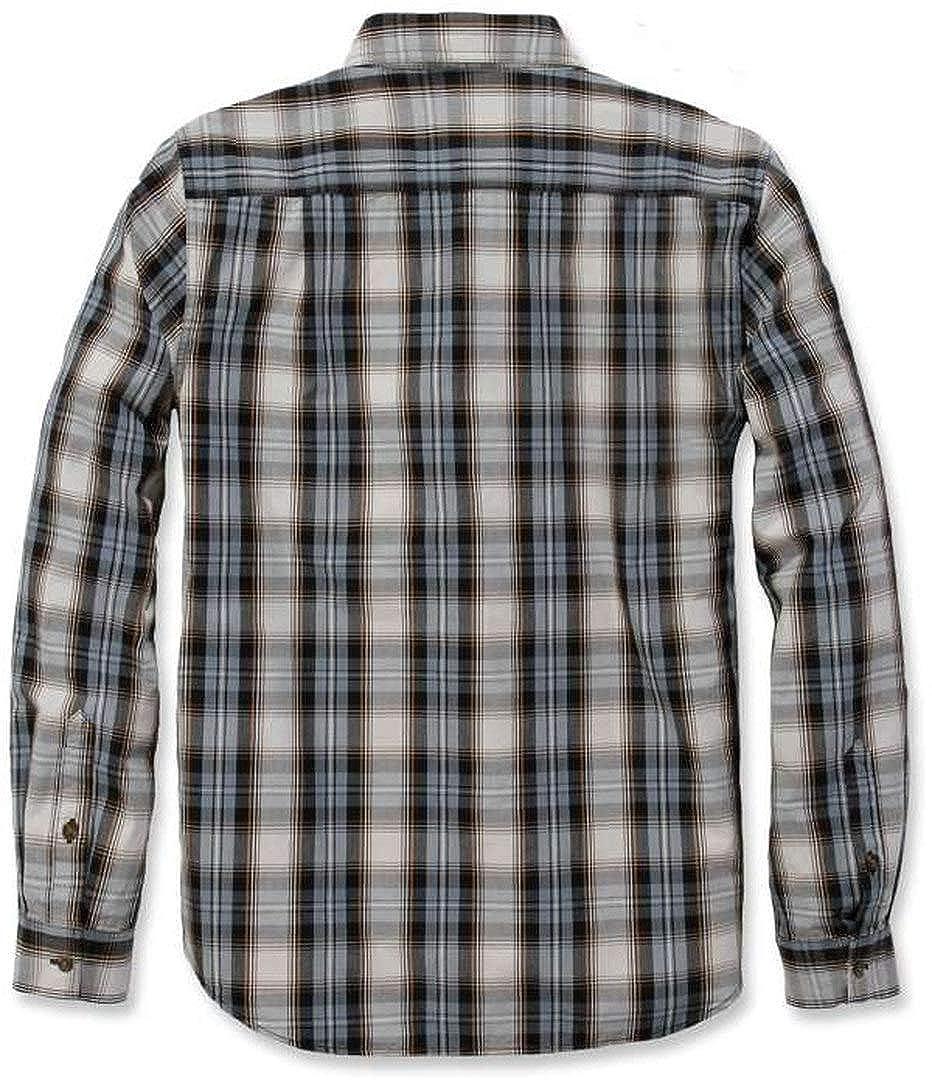 Carhartt Men Long-Sleeve Shirt Long Sleeve Essential Open Collar Plaid