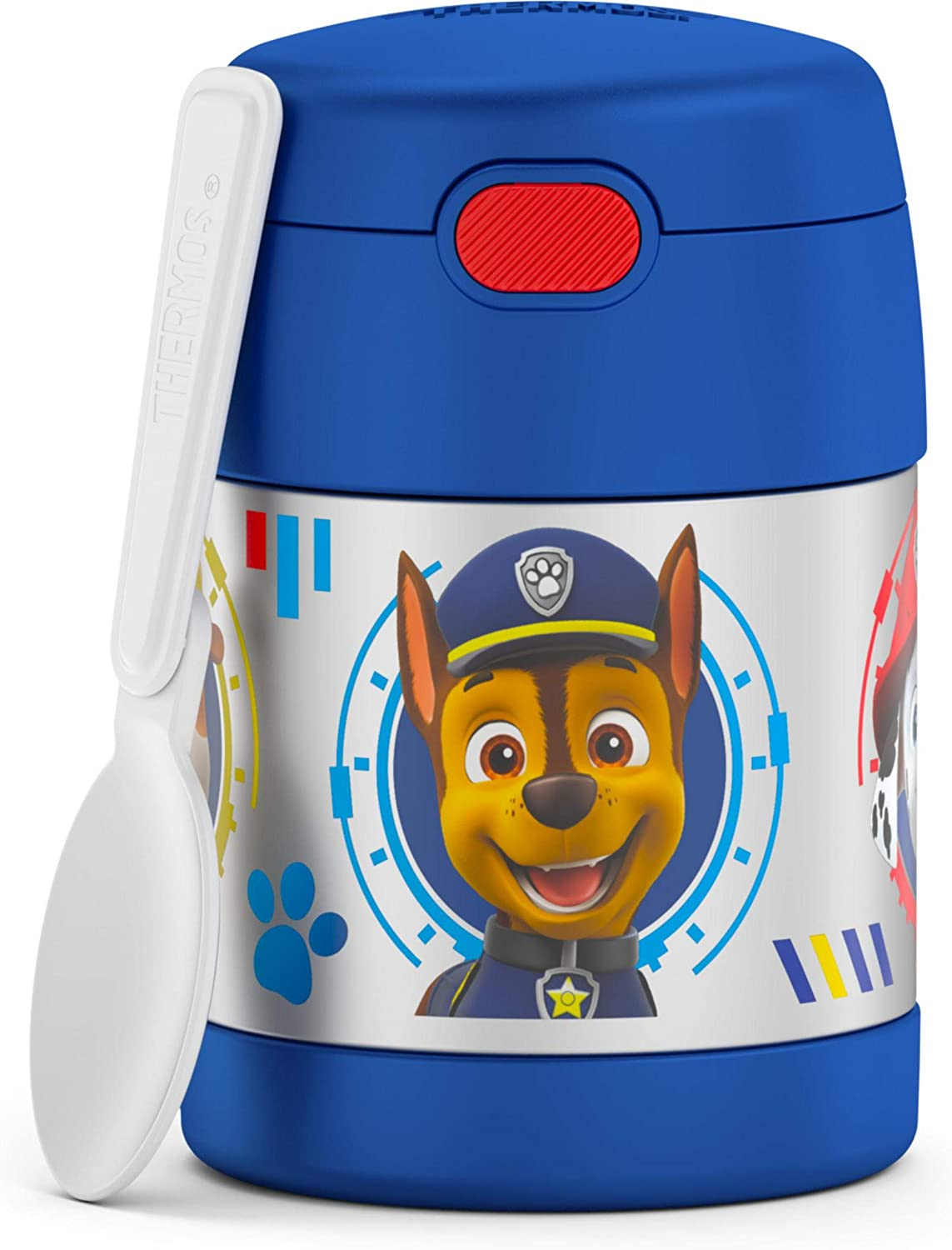 THERMOS FUNTAINER 10 Ounce Stainless Steel Vacuum Insulated Kids Food Jar, Paw Patrol - Boy