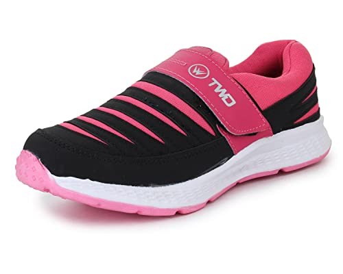 324b1cb083c TRASE Touchwood Women s Shark Black Pink Sports Shoes for Running Jogging  (with Hook