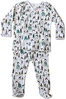 Skylar Luna Baby Boys' Reindeer Print Organic Kimono