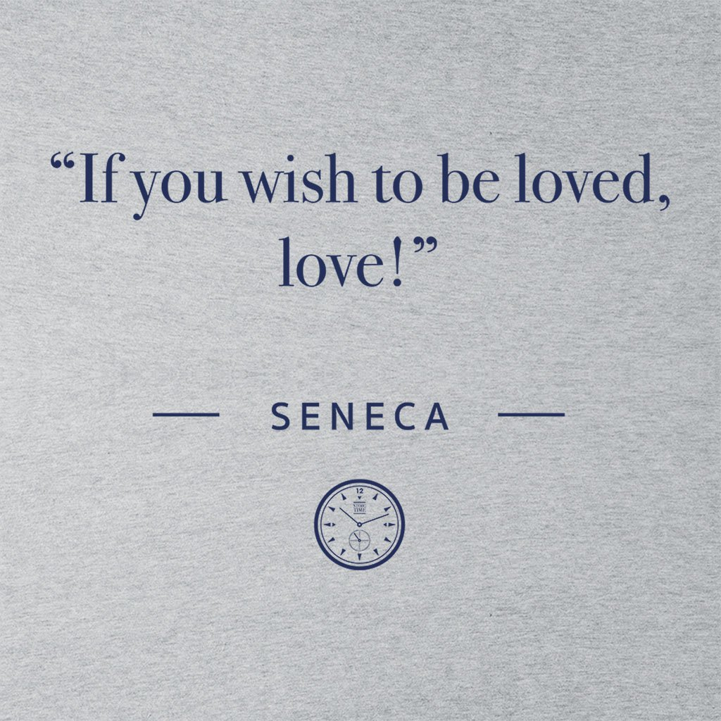 Stoic Time Seneca If You Wish to Be Loved Love Quote Womens Vest
