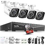 SANNCE 1080P Kit de Seguridad XPOE 4CH NVR y 4 IP Cámaras de vigilancia 2MP IP66…