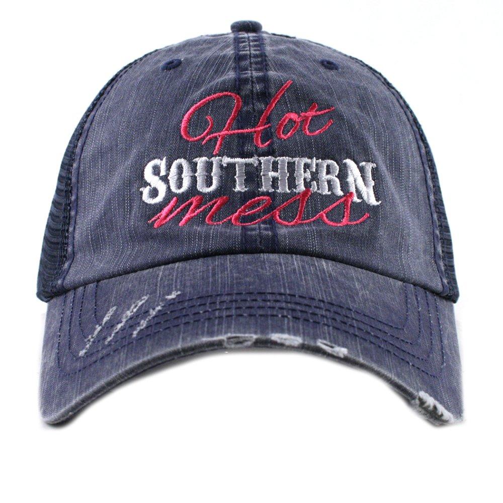 Hot Southern Mess Women s Mesh Trucker Hat Cap by Katydid at Amazon Women s Clothing  store  33e068e244c7