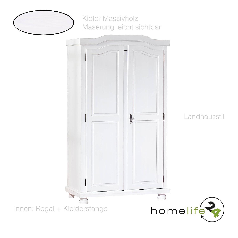 H24living Kleiderschrank Massiv-Holz Bauernschrank Landhausstil ...