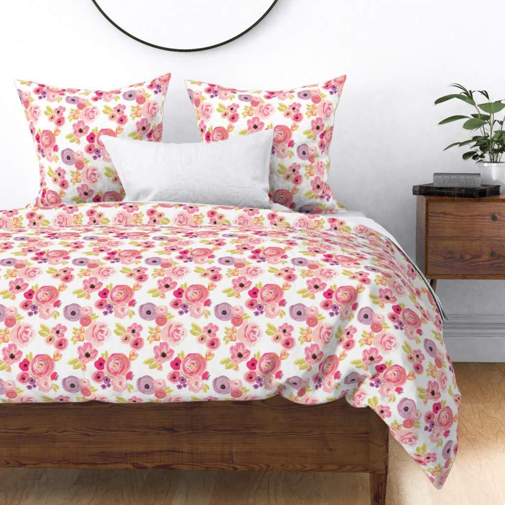 Amazon.com: Roostery Indy Bloom - Cojín con diseño de flores ...