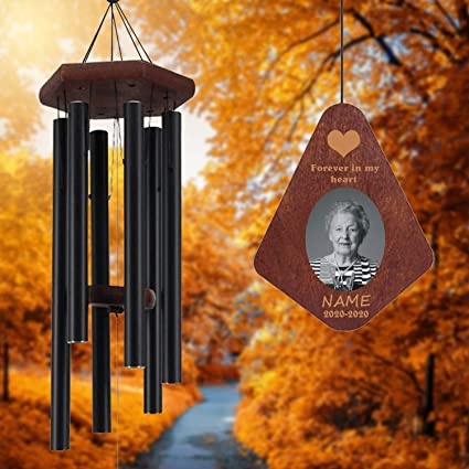 Personalized Sympathy Gift Bronze Windchime Bereavement Gift Personalized Memorial Tribute Wind Chime In Memory of Remembrance Gift