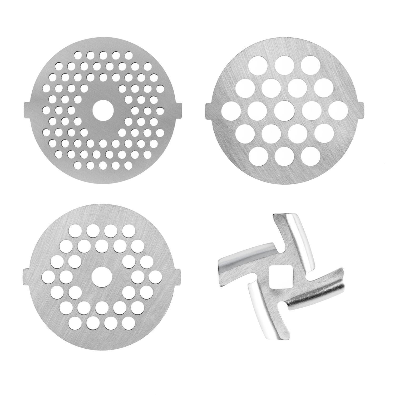 Klarstein 4-teiliges Lochscheiben-Set für die Lucia-Küchenmaschine 3-4,5-7mm