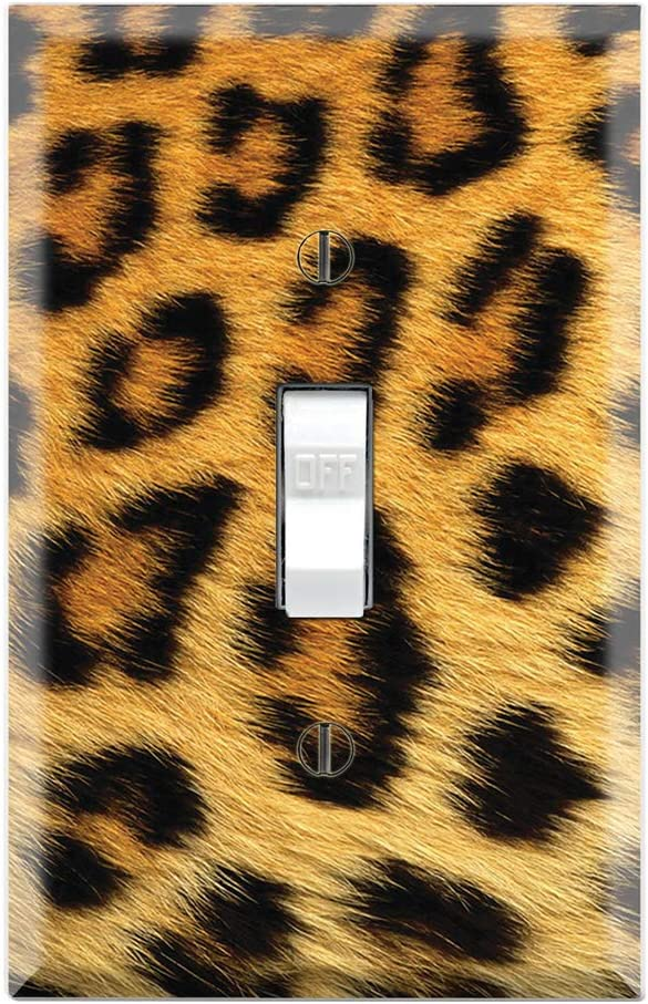 Graphics Wallplates - Leopard Print - Single Toggle Wall Plate Cover