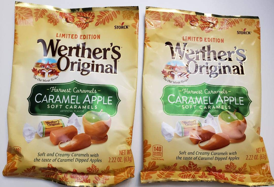 Werther's Original Harvest Caramels - Caramel Apple soft caramels, LIMITED EDITION, 2 packs