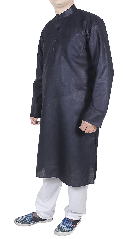 Camisa western pijama color negro manga larga algodón túnica ...