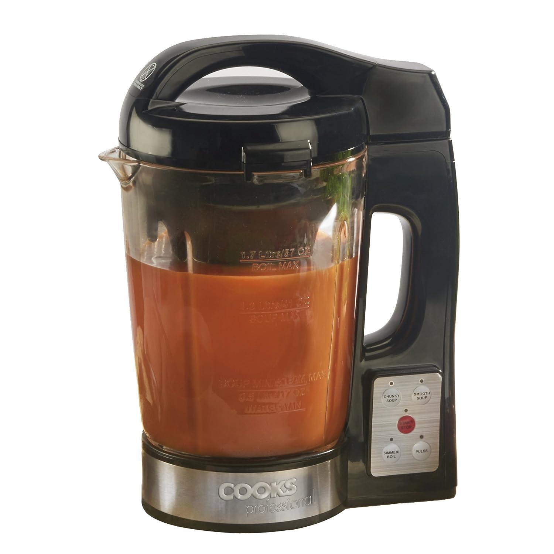 Cooks Professional Zuppa elettrica e frullatore Macchina da caffè Zuppa Cucina Bollitore 1100W con brocca di vetro Clifford James