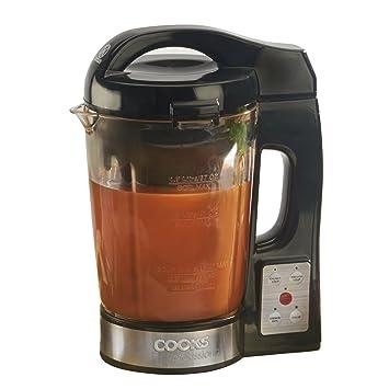 Cooks Professional Máquina eléctrica para Hacer Sopa y batidora Sopa de Cocina Kettle 1100W con Jarra de Vidrio: Amazon.es: Hogar