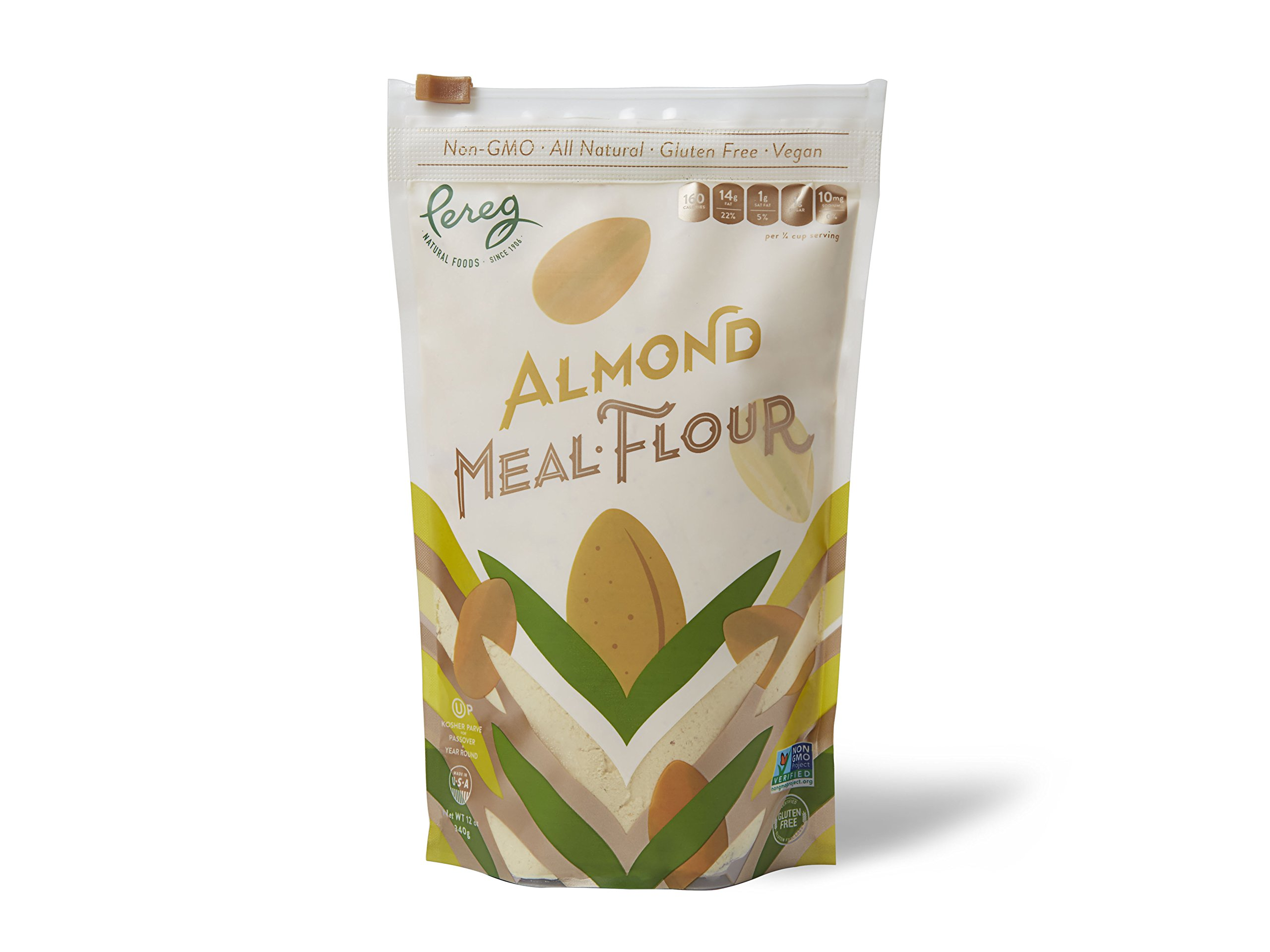 Pereg Natural Foods Multi-Purpose Alternative Gluten Free Almond Flour, All-Natural, Non-GMO, Kosher, Vegan, 12oz
