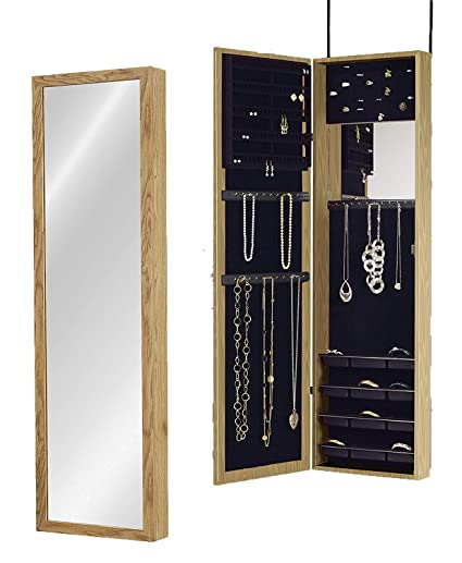 Plaza Astoria Over The Door/Wall Mount Jewelry Armoire With Full Length  Dressing Mirror