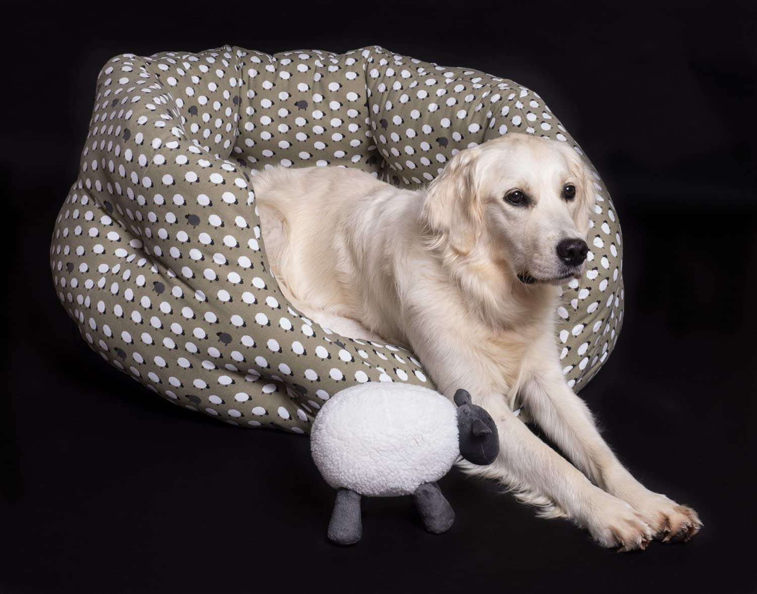 Petface Sheep Design Oval Dog Bed Small