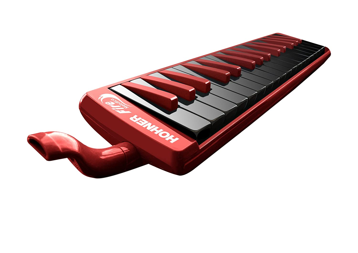 Hohner 32F 32-Key Piano-Style Fire Melodica, Red