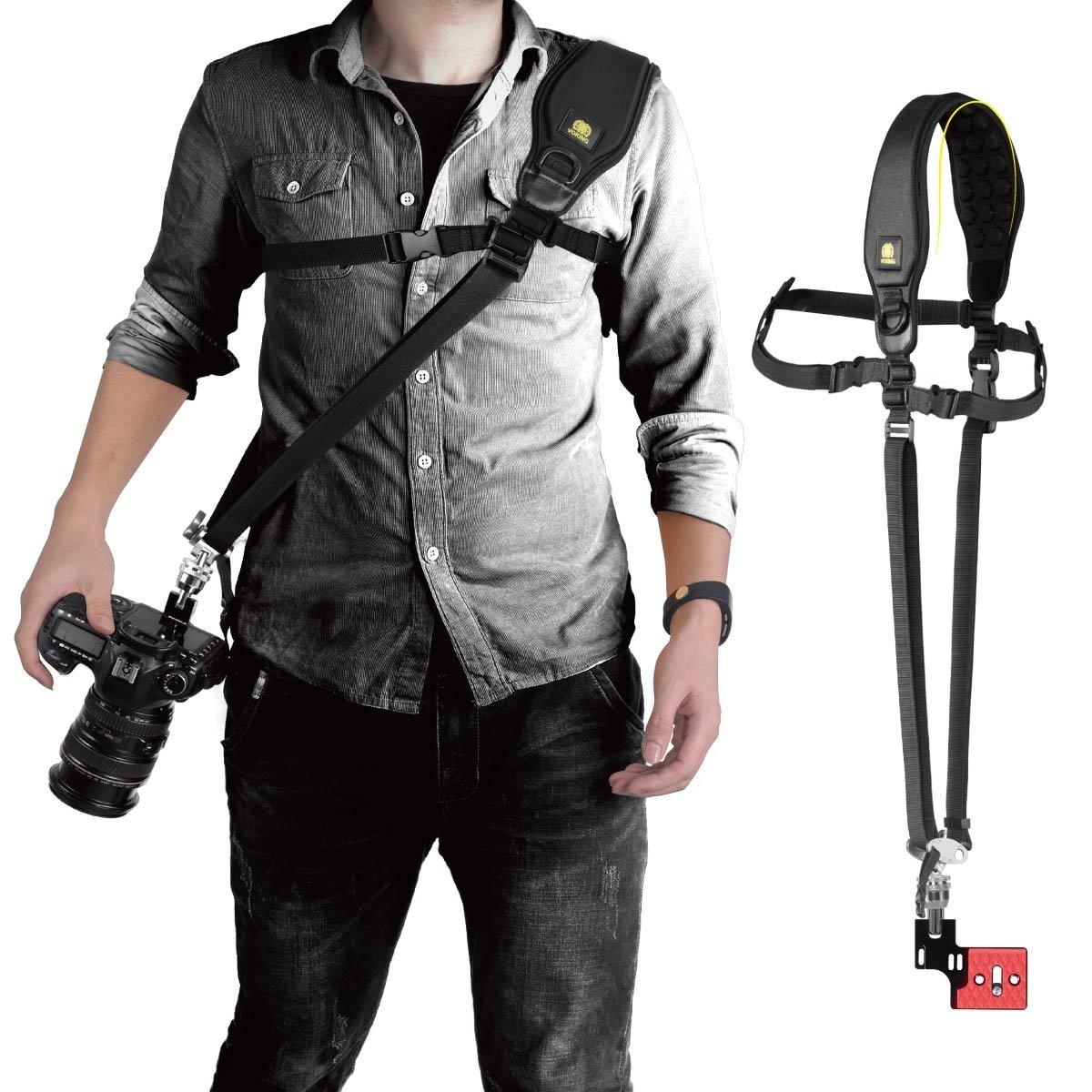 Voking VK-Q5 Camera Universal Shoulder Neck Strap Belt Adjustable Comfortable Quick Release Safety Tether for DSLR Camera
