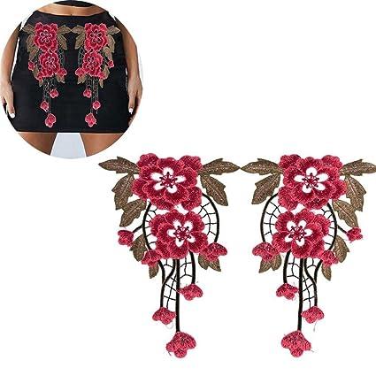 60e2bf517c Amazon.com: Unmengii Hot Clothes Decor Fabric DIY Crafts Flower ...