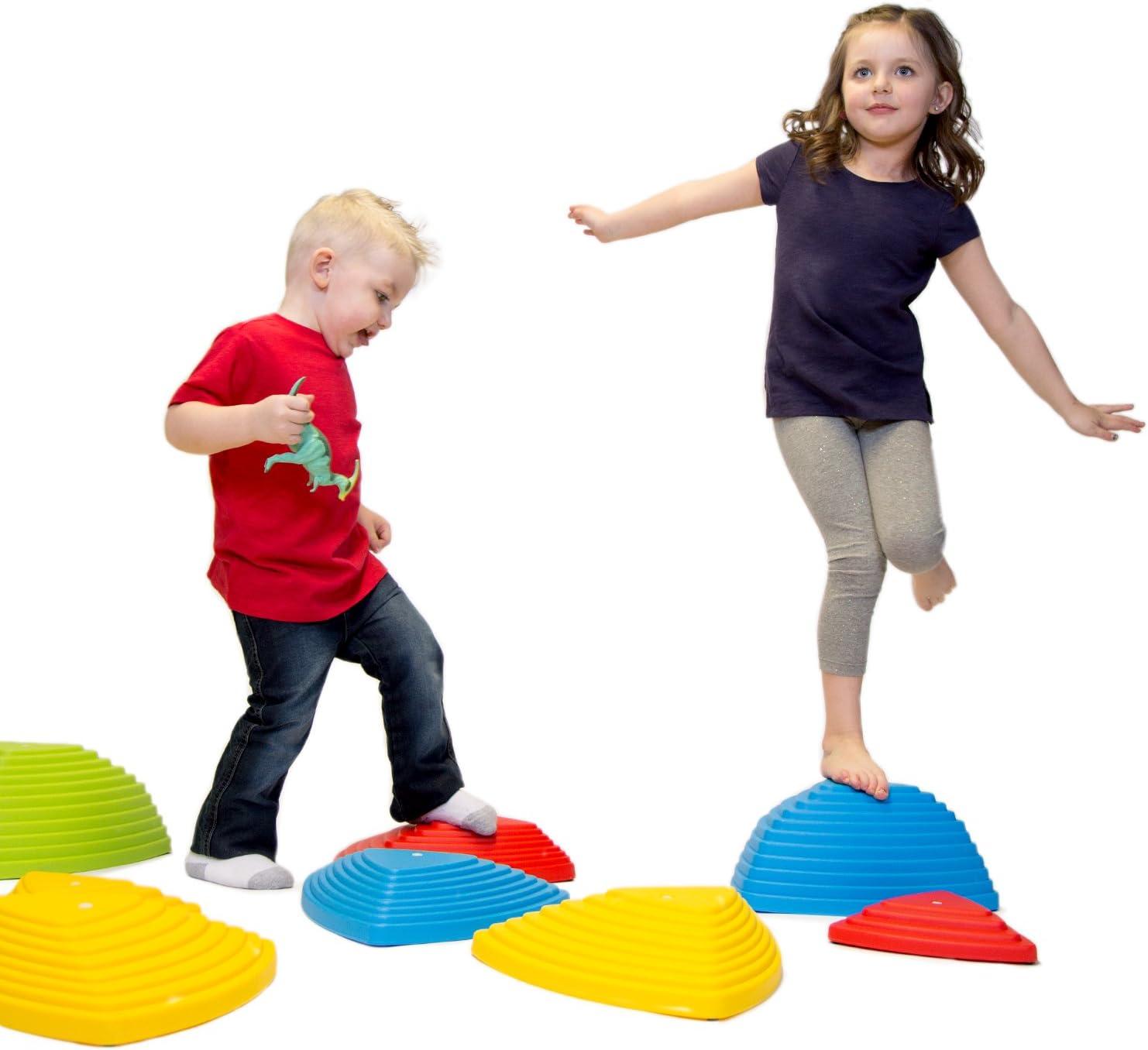 Green Hemispheres Stepping Stone Kids Balance Pods Sport Activity Game Toy