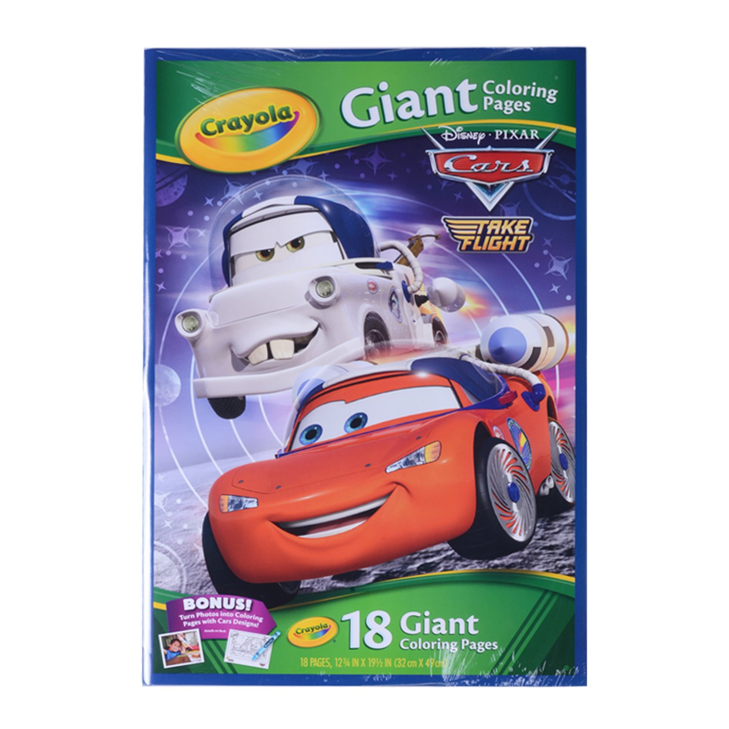 amazon com crayola disney pixar cars toon giant color pages toys