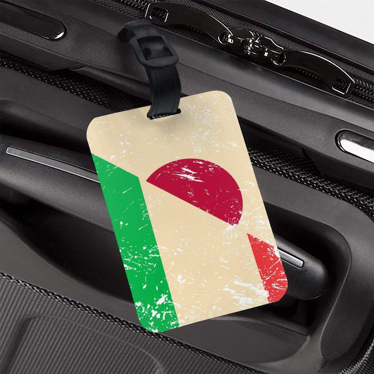 NB UUD Italy and Japan Retro Flag Travel Luggage Tag Printed Employees Card Luggage Tag Holders Travel ID Identification Labels for Baggage Suitcases Bags